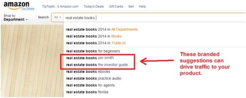 Amazon also suggests relevant queries