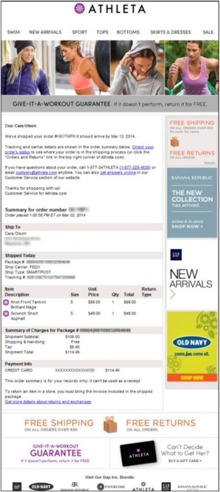 Example of Promotional Emails