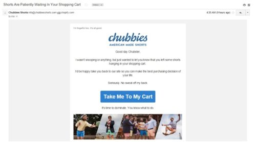 Target Remarketing with Abandoned Cart Emails