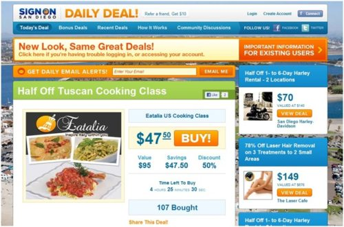 Using Deal Websites