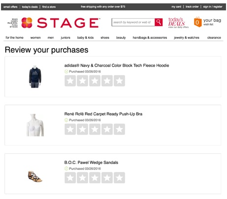 Make It Easy to Review Multiple Purchases