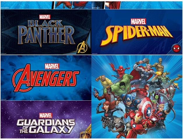 Example of marvel site for the same products