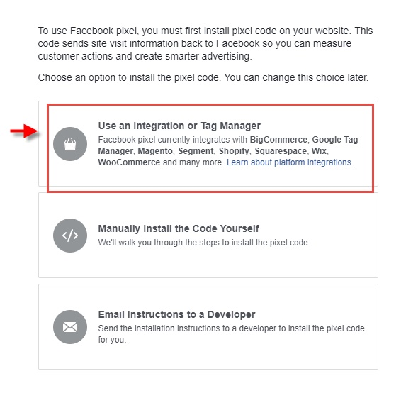 Use an Integration or tag manager