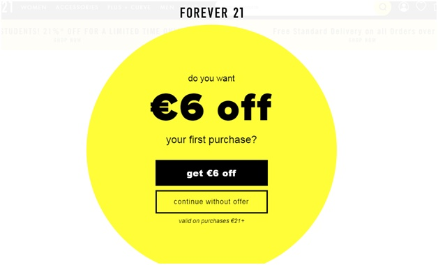 Customizing your front page to have a discount