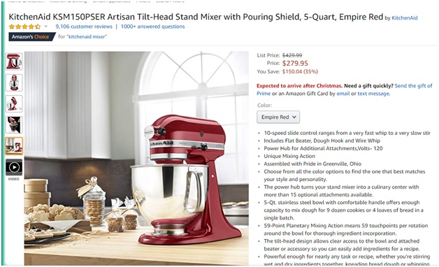 Product and category page content