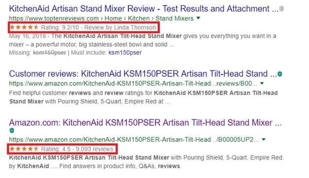 Add rich snippets (in the form of reviews)