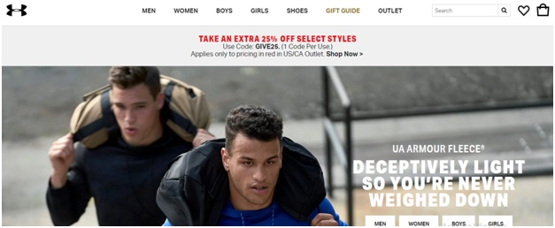 Under Armour is example of how to get your e-commerce site's architecture right
