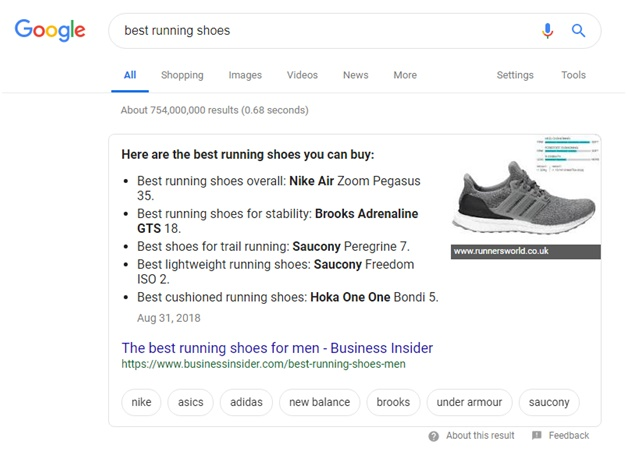 Aim For Featured Snippet
