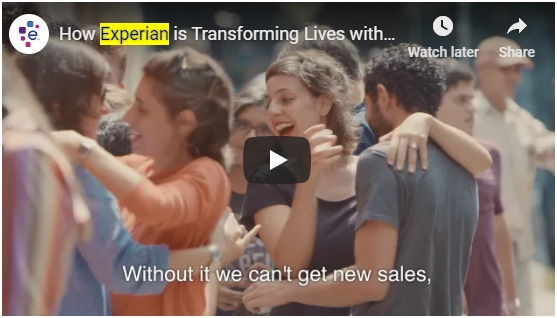 Experian campaign amplified using Facebook, LinkedIn, YouTube and multiple channels