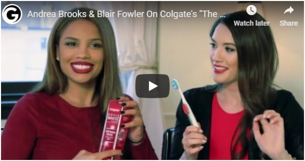 Colgate video over various social media channels