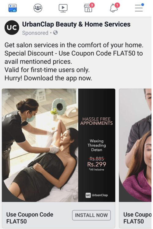 Urbanclap Beauty&Home Services Remarketing