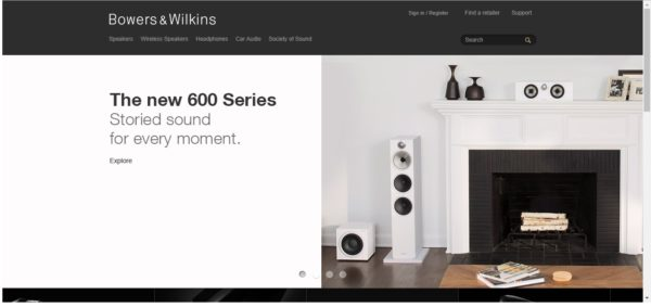 Bowers & Wilkins are the manufacturer of loudspeakers
