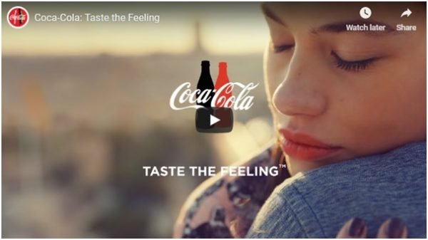 """Taste the feeling"" campaign"