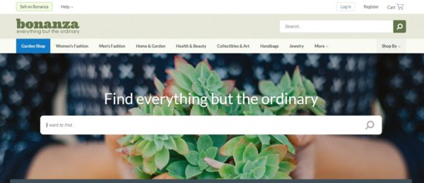 Bonanza is one of the upcoming online marketplaces