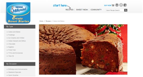Nestle Milkmaid provides a series of recipes in its blog section