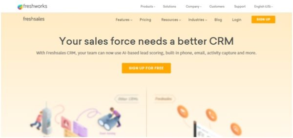 Freshsales is a CRM