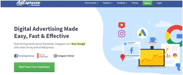 Good and straight forward tool for running Facebook campaigns