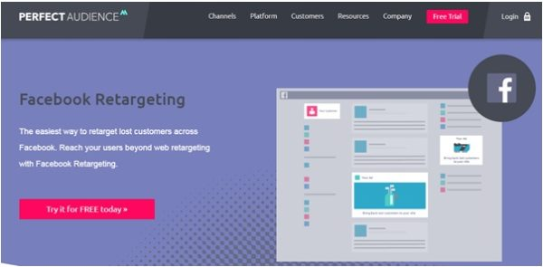 Another tool which focuses on Facebook retargeting