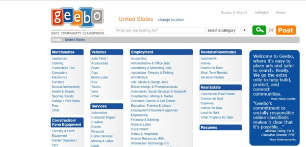 Online classifieds marketplace for the US markets
