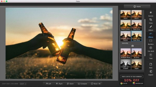 Fotor is web-based picture editing app