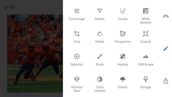 Snapseed used for creating intuitive and responsive designs