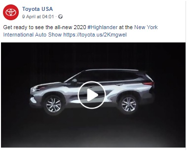 Toyota also use Facebook campaigns