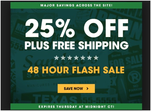 Flash sale for a specific duration
