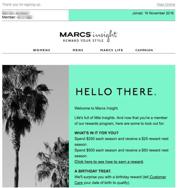 Email Reminder of Marcs Insight