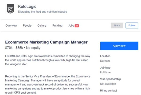 KetoLogic provided marketing campaign manager
