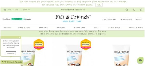 Baby product online store