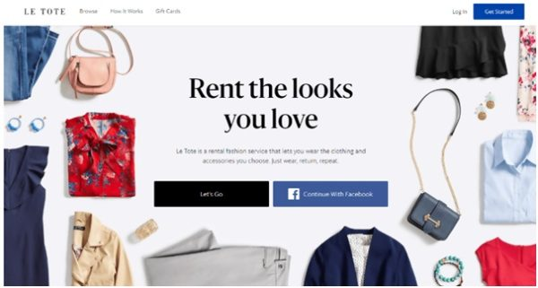 Rental services for fashion