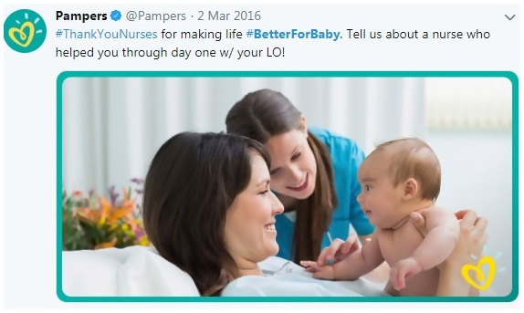 Pampers #BetterForBaby campaign