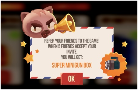 Referral example for Online games